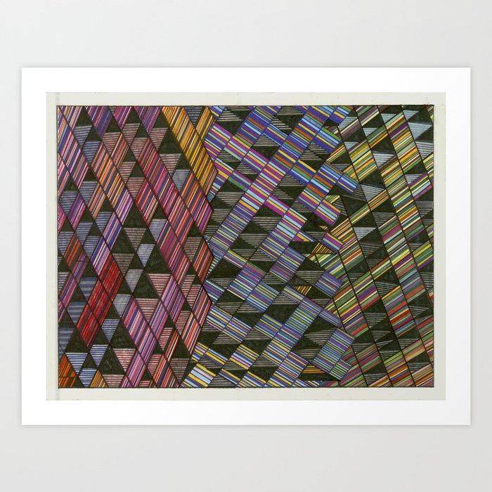 Moving Panes Art Print