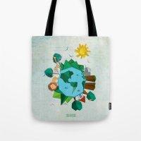 planet Tote Bags featuring Planet by Design SNS - Sinais Velasco