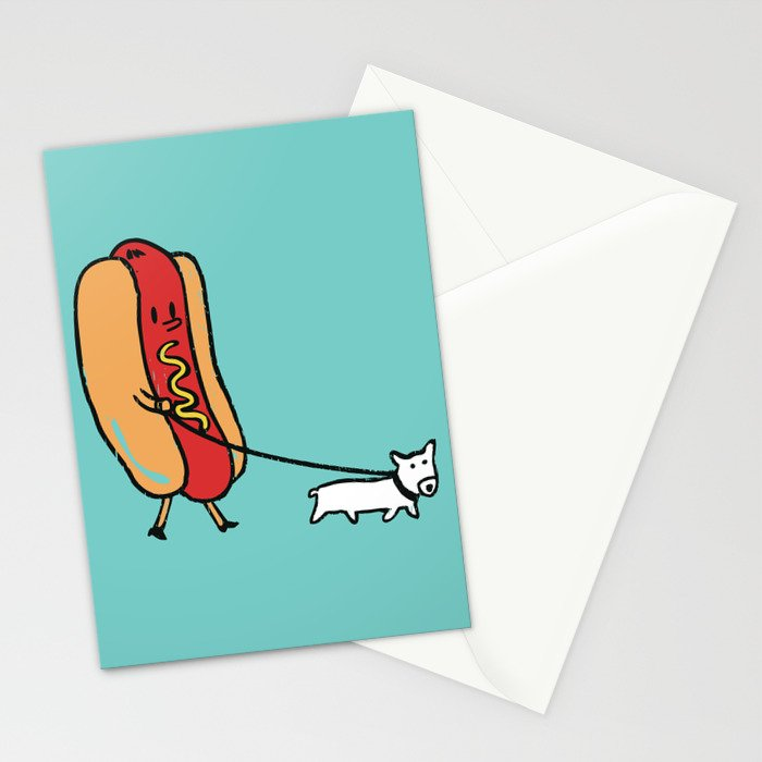 Double Dog Stationery Cards