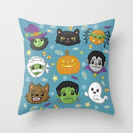 Spooky Doodles Throw Pillow
