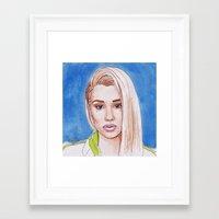 iggy Framed Art Prints featuring Iggy by Kaitlin Polak