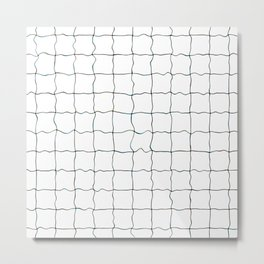 Swimming Pool Grid - Underwater Grid Metal Print