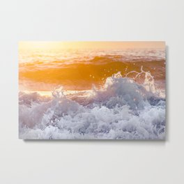 Orange Sunrise Splash Metal Print