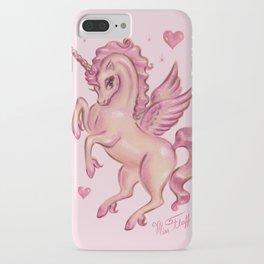 Unicorn Pegasus in Pink iPhone Case
