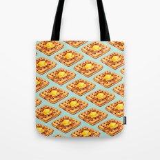 Waffle Pattern Tote Bag