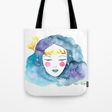 Nebula girl Tote Bag