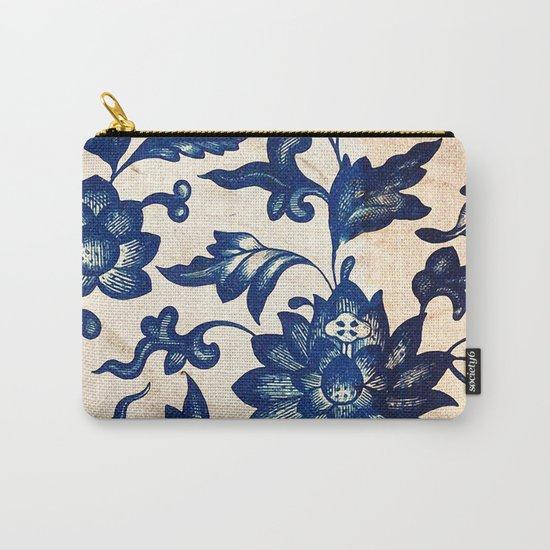 Blue Oriental Vintage Tile 06 Carry-All Pouch