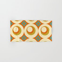Mid-Century Modern Orange Hand & Bath Towel