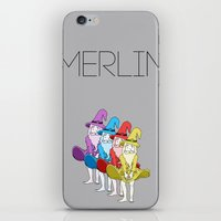 merlin iPhone & iPod Skins featuring Merlin by MajorTom