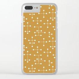 Atomic Era Dots 26 Clear iPhone Case