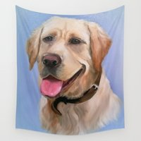 labrador Wall Tapestries featuring Labrador by OLHADARCHUK
