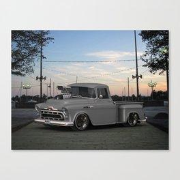 57 3100 #Chevrolet Truck by @ernhrtfan Canvas Print