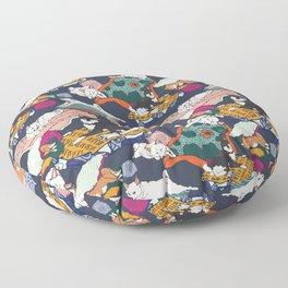 Lounging Shibas Floor Pillow