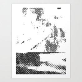 LeProcope_Glitch02 BW Art Print