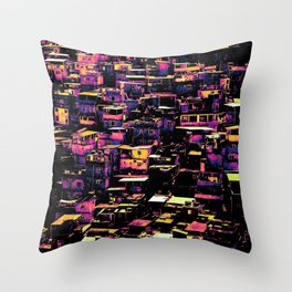 Homes On A Hill Pop Art Throw Pillow