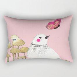 pink wall Rectangular Pillow