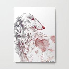 Borzoi Metal Print