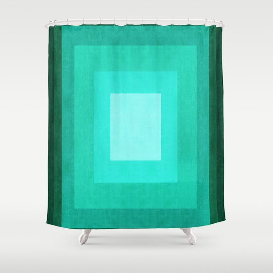 Minimalist Rectangular Pattern Shower Curtain By The Spirit Of Art Society6