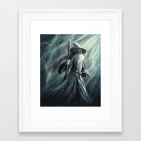 gandalf Framed Art Prints featuring Gandalf by Svenja Gosen