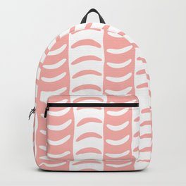 Wavy Stripes Peach Backpack