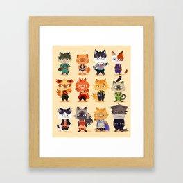 Meow Hero Acatdemia Framed Art Print