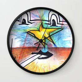 A Star in the Sky Wall Clock