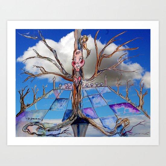 Jester B's Tree Art Print