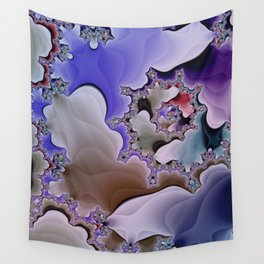 colorful fractal spirals -123- Wall Tapestry