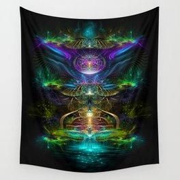 Neons - Fractal - Visionary - Manafold Art Wall Tapestry