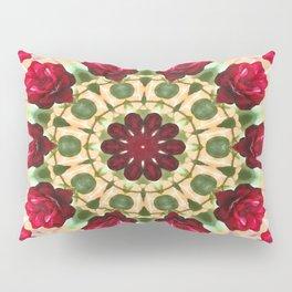 Old Red Rose Kaleidoscope 8 Pillow Sham
