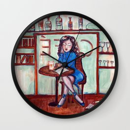Cafe Quotidien Wall Clock