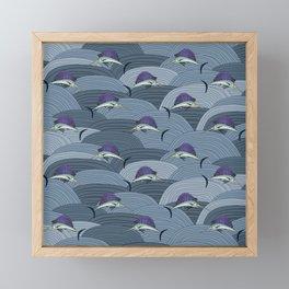 Swordfish Espadon   Pattern Art Framed Mini Art Print