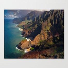 Na Pali Coast, Kaua'i, Hawai'i Canvas Print