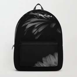 Daisy gerbera. Black and white Backpack