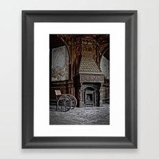 lost fireplace Framed Art Print