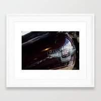 harley Framed Art Prints featuring Harley by Paul Anthony Thompson