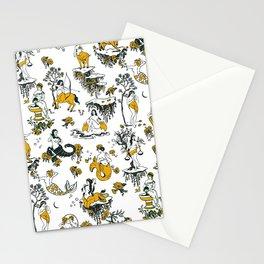 Zodiac Toile Pattern Stationery Cards