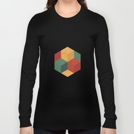 Retro Cubic Long Sleeve T-shirt