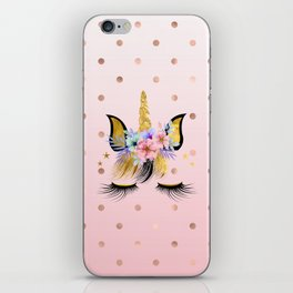Floral Unicorn  iPhone Skin