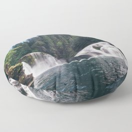 Lower Lewis River Falls Floor Pillow