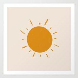 painted sun Art Print