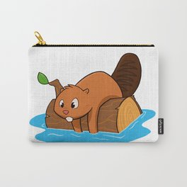 Spruce on a Log Carry-All Pouch