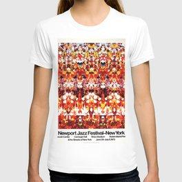 Vintage 1973 Newport Jazz Festival Poster T-shirt