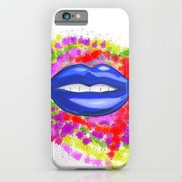 Blue Lips iPhone Case
