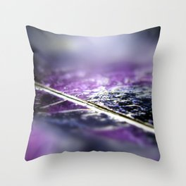 Abstract macro SILVER-PURPLE Throw Pillow