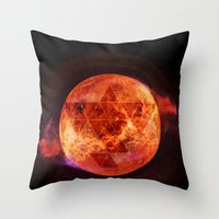 springsteen Throw Pillows featuring Gravity Levels: Red Planet by Sitchko Igor