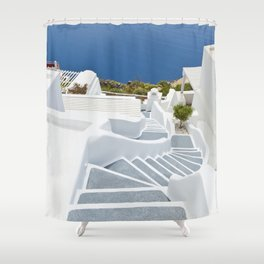 The Perfect Santorini Life Shower Curtain