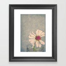 Zinnia Flower Still Life Painterly Framed Art Print