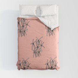 Swamp lillies on coral Comforters