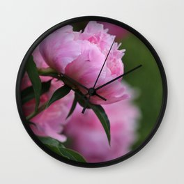PINK PEONY PROFILE Wall Clock